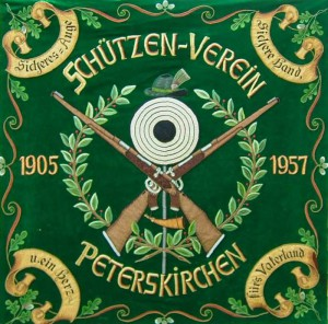Fahne zum 50jährigem Gründungsfest